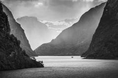 AURLANDSFJORD AT FLAM NORWAY by Henry Slack